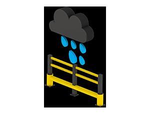 Les avantages des barrières amortissantes - Pas de corrosion - Barrieredeprotection.com