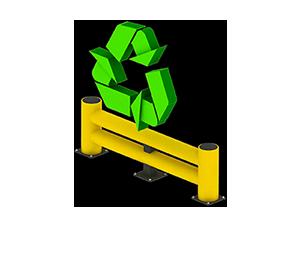 Les avantages des barrières amortissantes - Recyclable et faible empreinte écologique - Barrieredeprotection.com