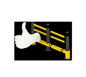 Les avantages des barrières amortissantes - Une installation facile et modulaire - Barrieredeprotection.com
