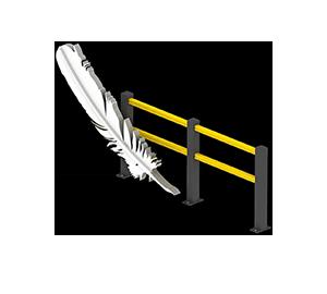 Les avantages des barrières amortissantes - Une légèreté inédite - Barrieredeprotection.com