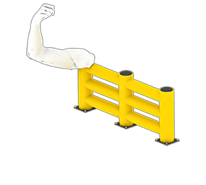 Les avantages des barrières amortissantes - Une résistance équivalente au métal - Barrieredeprotection.com